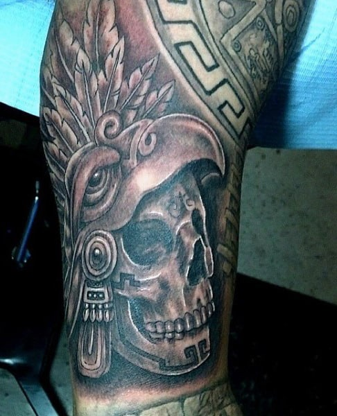 Aztec Serpent Tattoo For Males