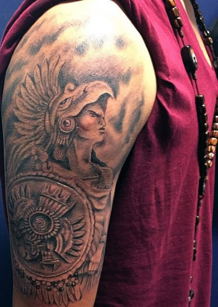 Aztec Skull Tattoos Men