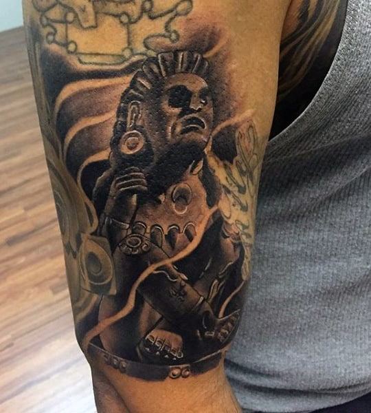 Aztec Style Tattoos For Men
