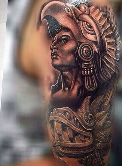 Aztec Sun Tattoos For Men