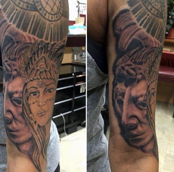 Aztec Symbols Tattoos For Men