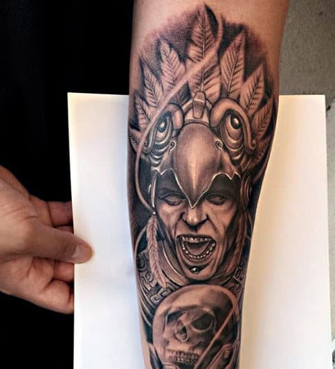 Aztec Tattoo Sleeve Ideas For Males