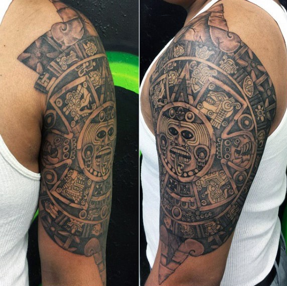 Aztec Tribal Tattoo For Men