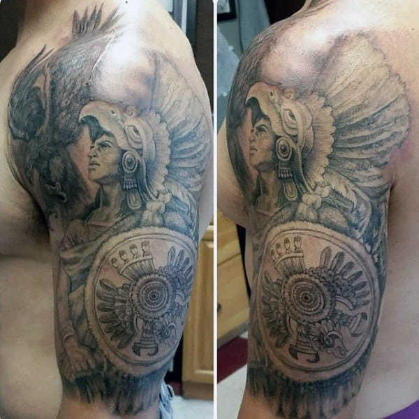 Aztec Tribal Tattoos For Men