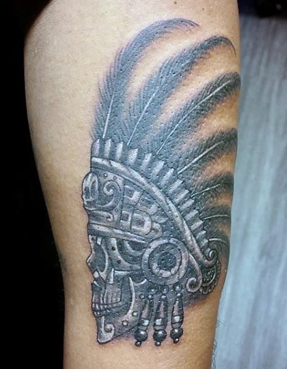 Aztec Warrior Tattoo Designs For Men On Arm