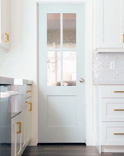Baby Blue Kitchen Pantry Door Interior Design