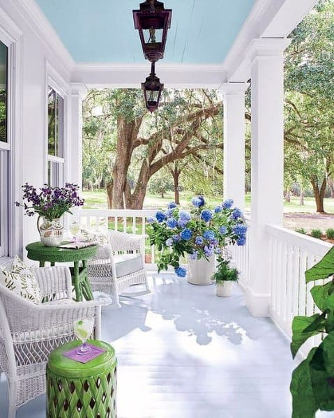 Baby Blue Painted Porch Ceilings