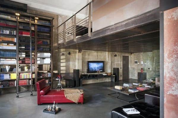 Bachelor Pad Home Library Designs