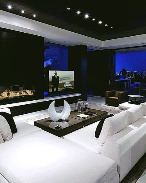 bachelor pad home theater designs odern - Home Theater Design Ideas