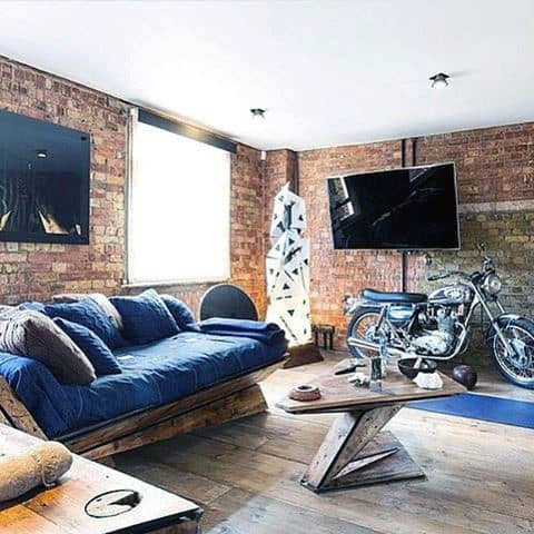 100 bachelor pad living room ideas for men masculine designs for Bachelor pad couch