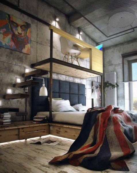 Bachelor Pad Loft Ideas Bedroom