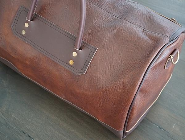 Back Carry Strap Rivet Details Duluth Pack Bison Leather Sportsman Duffel