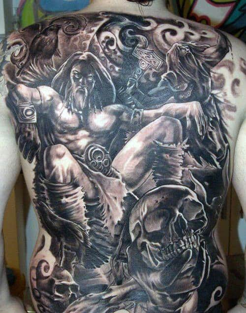 Back Celtic Viking Men's Tattoos