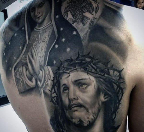 Back Cool Christian Tattoo Ideas Men