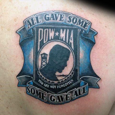 Back Guys Pow Mia Tattoo Designs