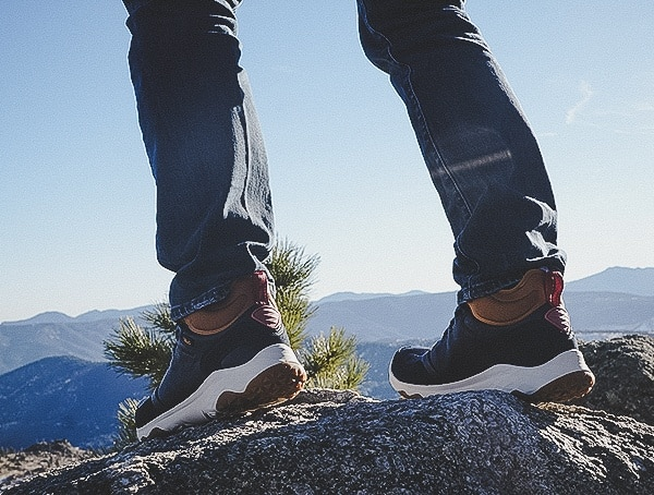Back Heel View Review Of Arrowood 2 Mid Waterproof Hiking Boots For Men