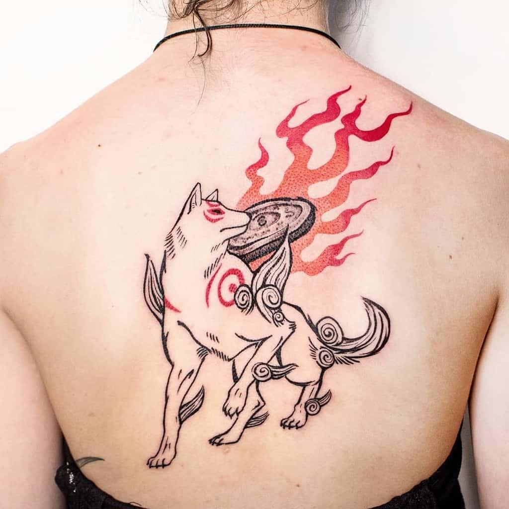 back japanese wolf tattoo chislu