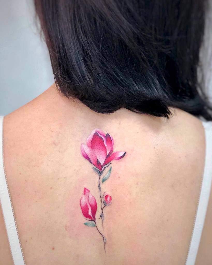 back magnolia tattoos esina.zoya