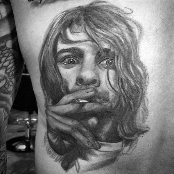 Back Male Nirvana Tattoo Ideas