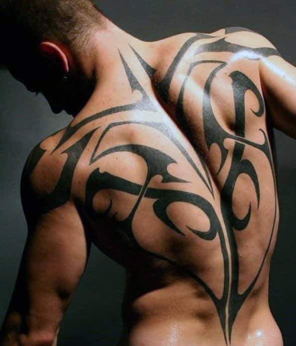 Back Male Tribal Tattoo Designs