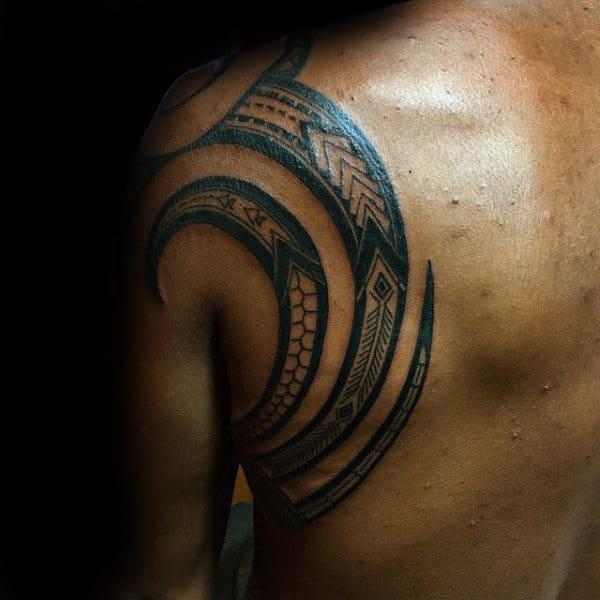 Back Mens Samoan Tribal Tattoos