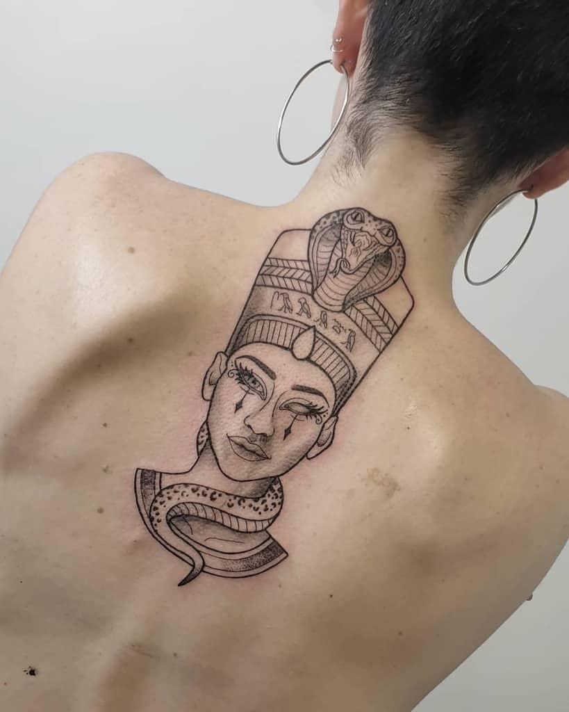 Back Nefertiti Tattoos Hecate Tattooart