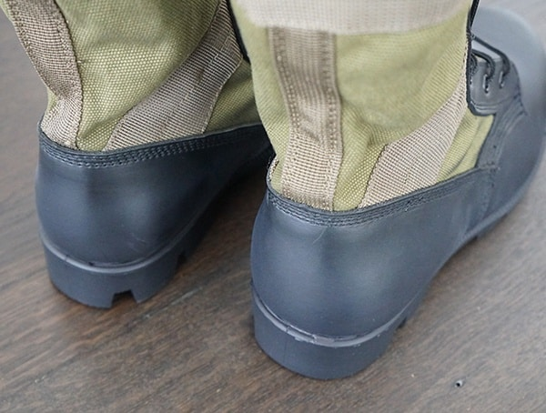 Back Of Boot Heel Mens Olive Green Jungle Od 30
