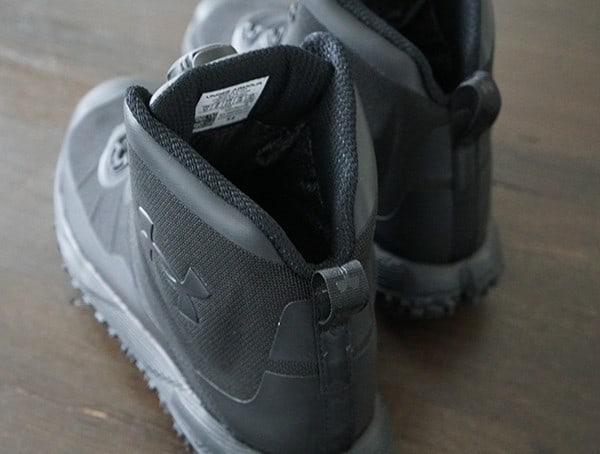 Back Of Boots Mens Under Armour Fat Fire Hiking Shoe Detail