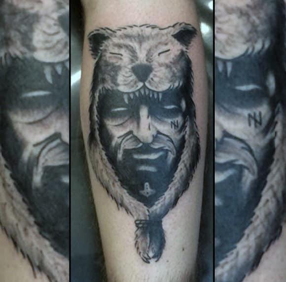 Back Of Calf Tattoo Designs For Men