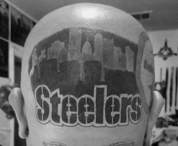 Back Of Head Pittsburgh Steelers Tattoos For Men