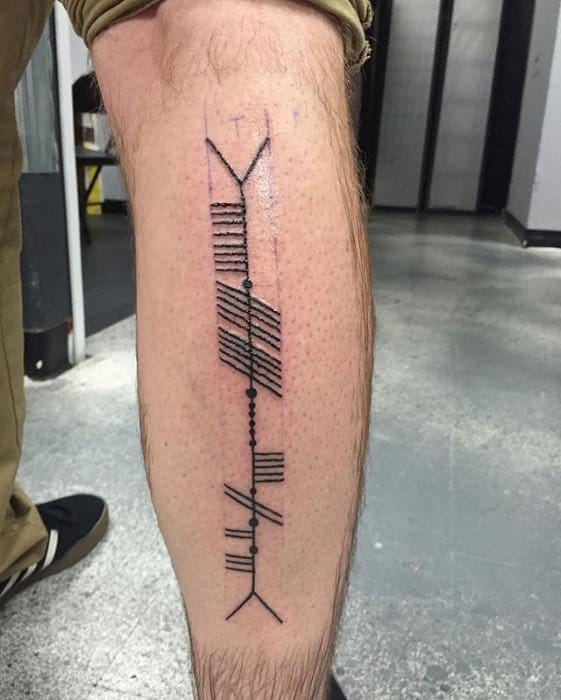 50 Ogham Tattoo Designs For Men