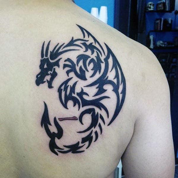 Design dragon tribal tattoo Tribal Dragon