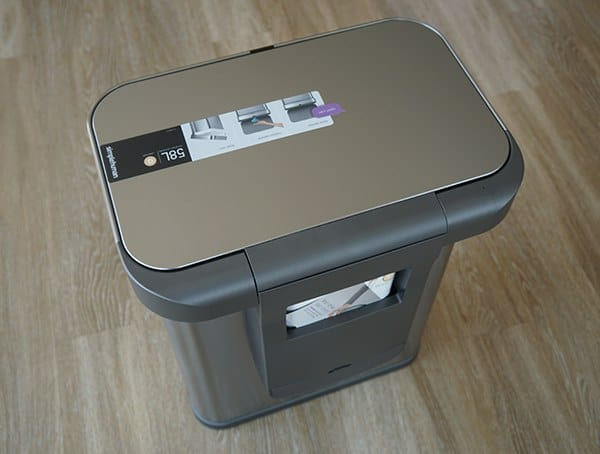 Back Of Simple Human 58 Liter Rectangular Trash Can