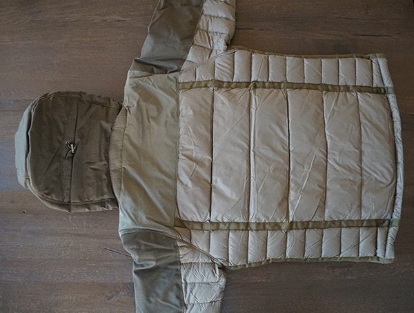 Back Olive Firestorm Down Parka For Men