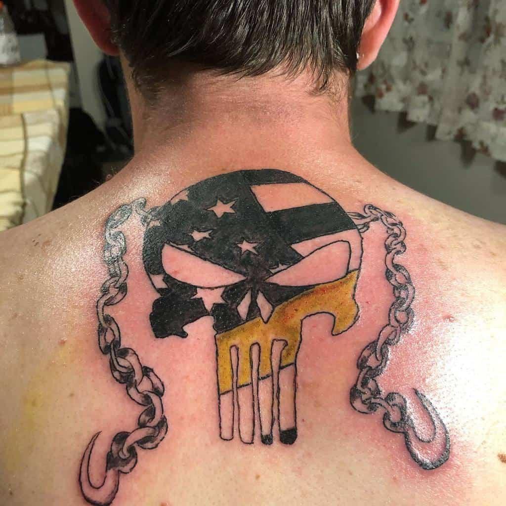 back punisher skull tattoo tzaks_tattoos_frank_tomczak