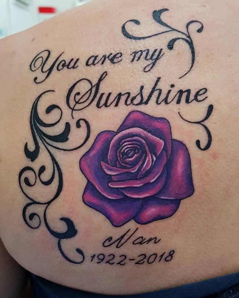 back purple rose tattoos anitawilsontattooist