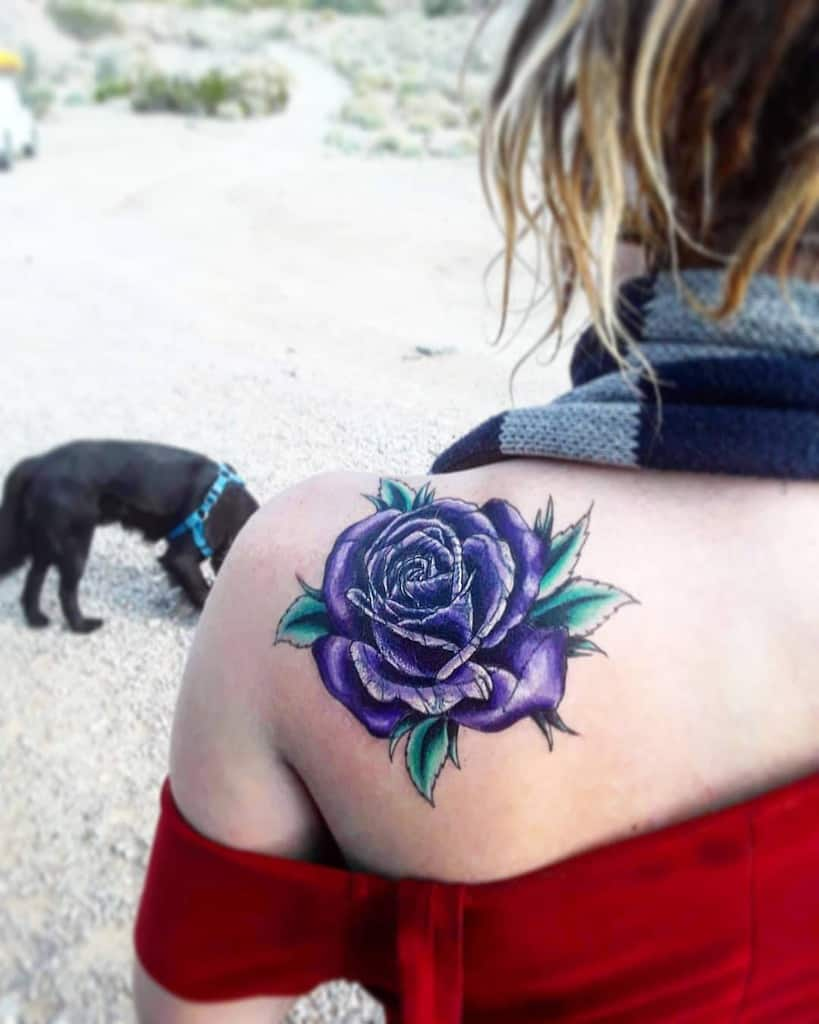 back purple rose tattoos flowery_faerie
