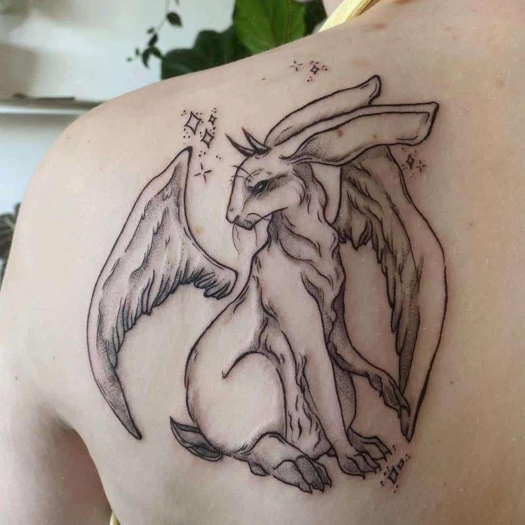 Back Rabbit Tattoos Artsy Skychi