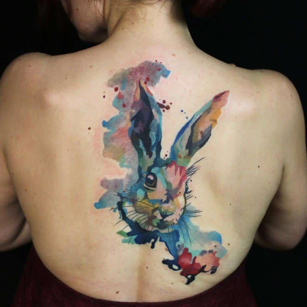 Back Rabbit Tattoos Shnioka