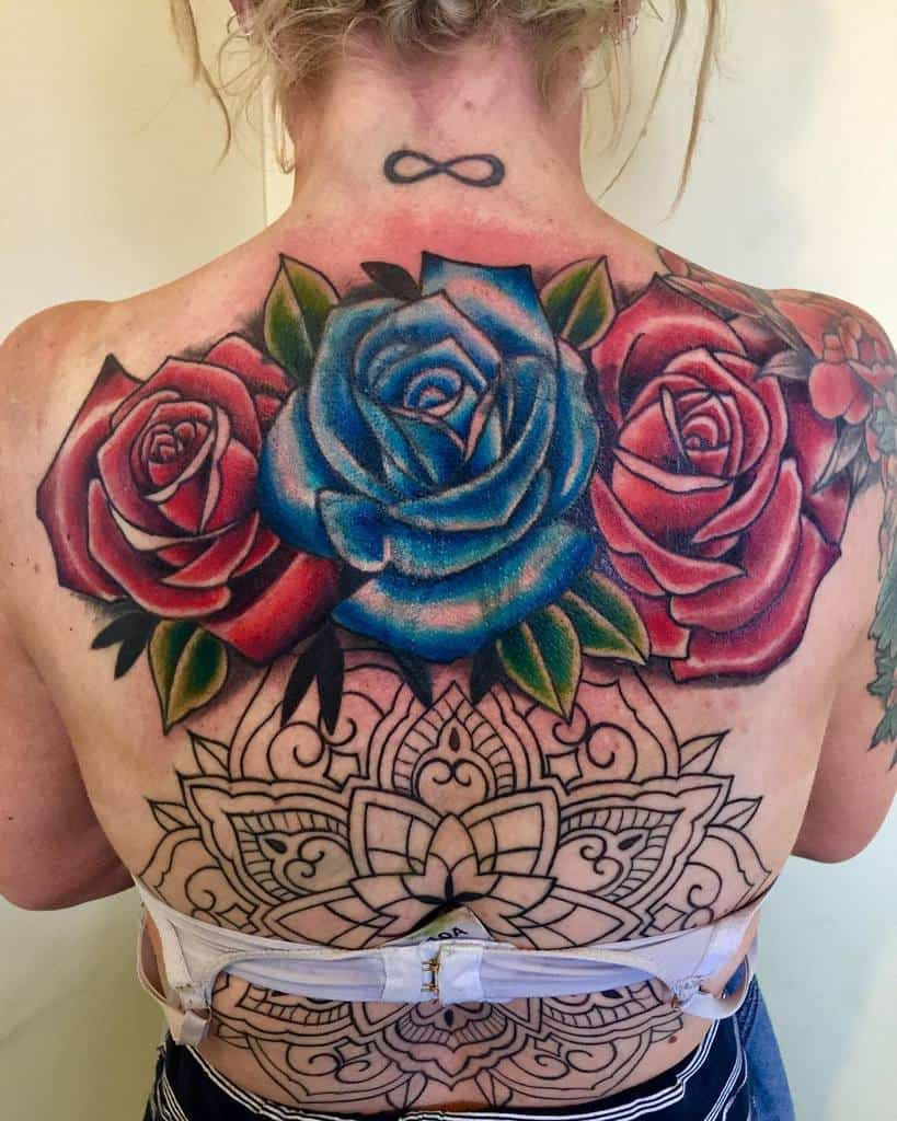 back red rose tattoos dean_genge_tattoos