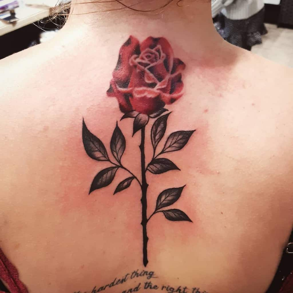 back red rose tattoos emilyrichouxtattoos