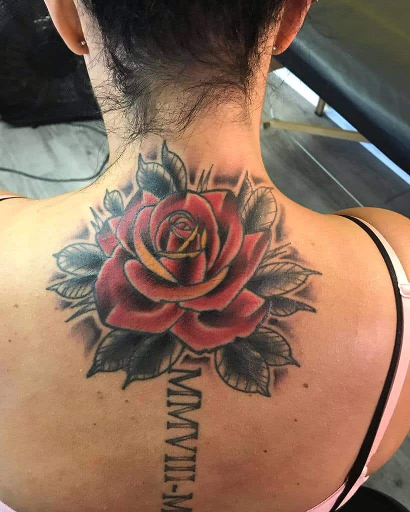 back red rose tattoos jakelotd