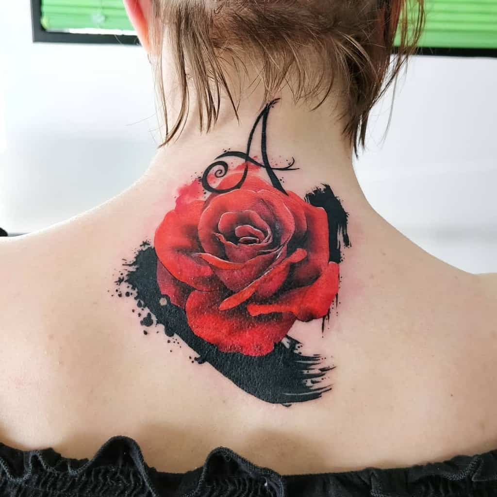 back red rose tattoos mich_michelemor