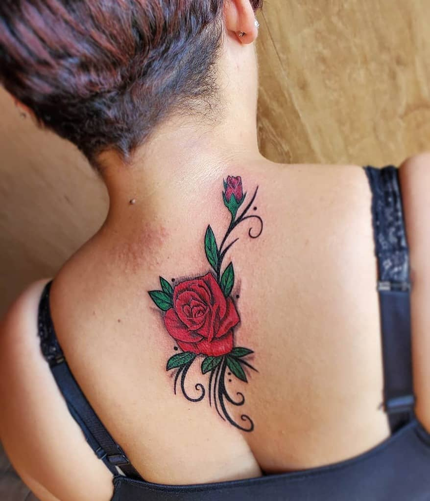 back red rose tattoos saltoftheearthtattoo