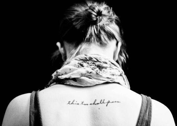 Back Script Tattoo