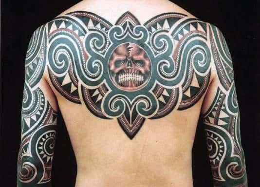 Tribal Back Tattoos For Black Men