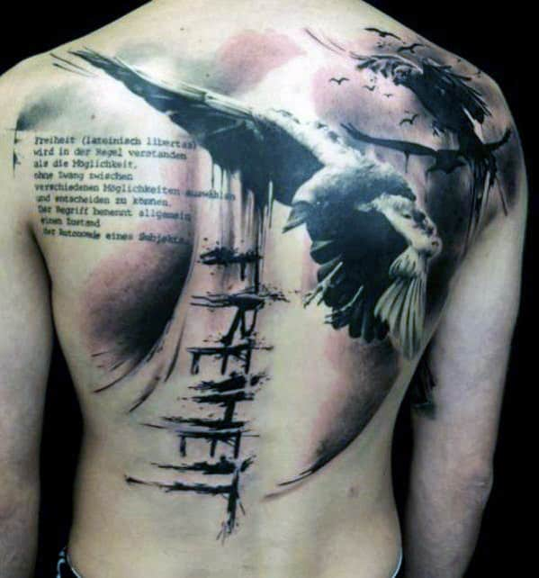 top 50 best back tattoos for men ink designs and ideas. Black Bedroom Furniture Sets. Home Design Ideas