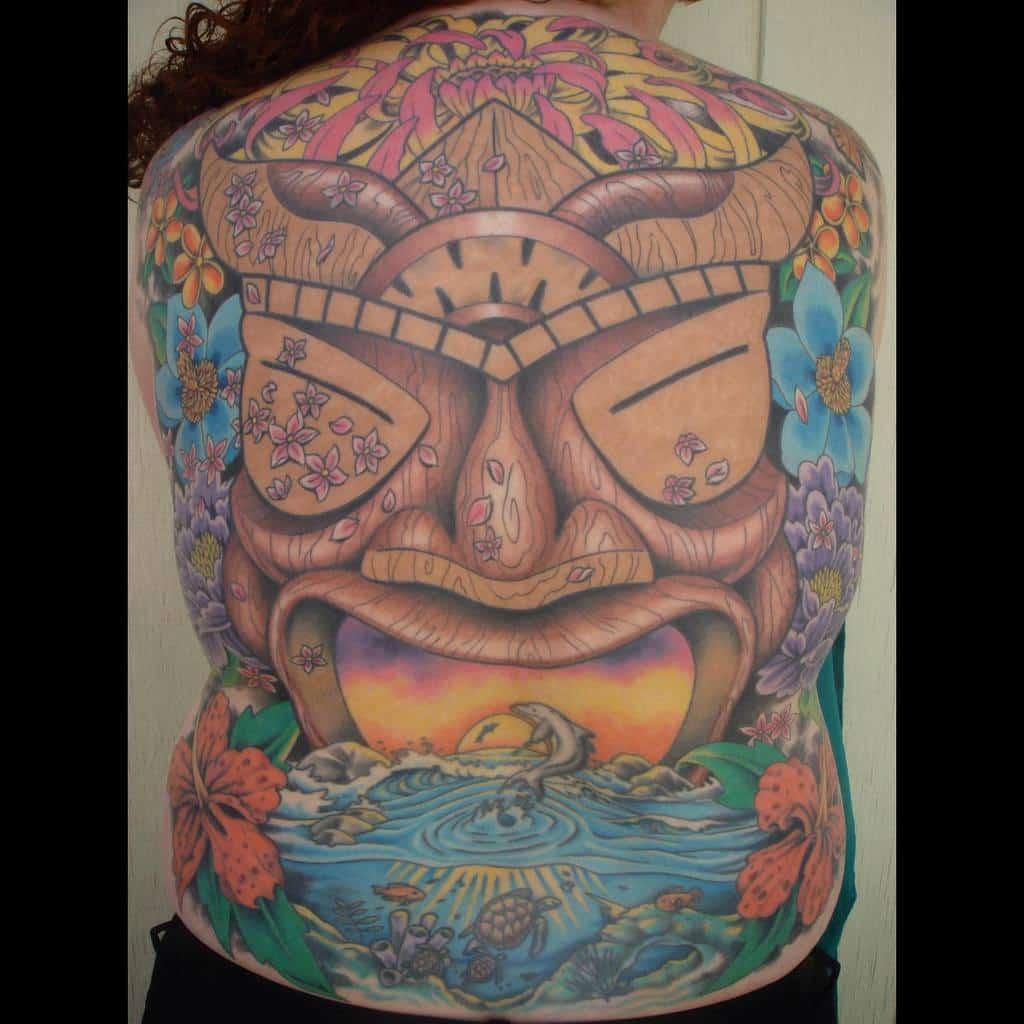 Back Tiki Tattoo Bigbeartattooca