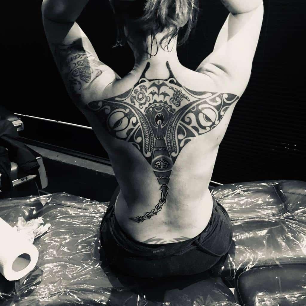 Back Tiki Tattoo Toshotattoo