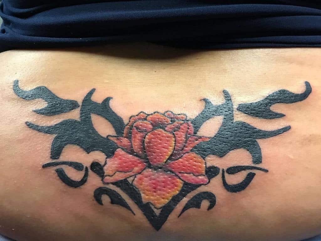 back tribal rose tattoos kloos_tattoos